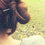 Penteados para Escola - Cabelos Lisos - Coque soltinho - 7
